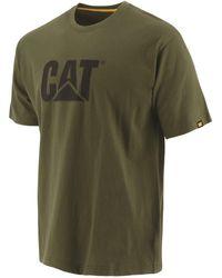 Caterpillar Unisex Trademark Logo T-shirt - Green