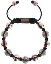 Nialaya Italian White Crystal 925 Silver Bracelet - Metallic