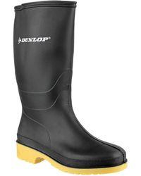 Dunlop Dull Wellington Boys Boots Black