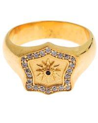 Nialaya Gold Plated 925 Sterling Silver Ring Gold Sig19137 - Metallic