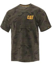 Caterpillar Unisex Trademark T-shirt Night Camo 32227 - Green
