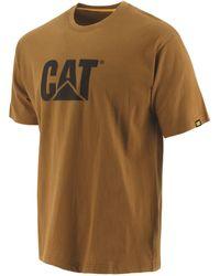 Caterpillar Unisex Trademark Logo T-shirt - Brown