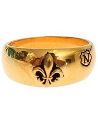 Nialaya Gold Plated 925 Silver Ring Gold Sig18879 - Metallic