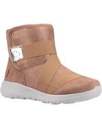 Skechers Unisex Go Walk Joy Strong Willed Ankle Boot Chestnut 31167 - Brown