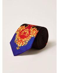 TOPMAN - Baroque Printed Tie - Lyst