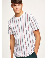 TOPMAN - Stripe Pique T-shirt - Lyst