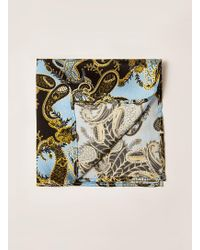 TOPMAN - Ilk Paisley Print Pocket Square - Lyst