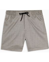 TOPMAN Houndstooth Woven Pull On Short - Grey