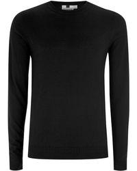 TOPMAN - Black Essential Sweater - Lyst