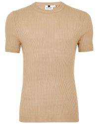TOPMAN - Tone Muscle Ribbed Sweater - Lyst