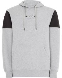 TOPMAN - Nicce Gray And Black Hoodie - Lyst