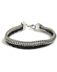TOPMAN Ilver Chain Bracelet - Black