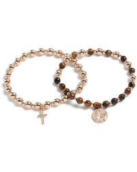 TOPMAN - Gold Bracelet Pack - Lyst