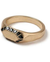 TOPMAN - Gold Hexagon Ring - Lyst