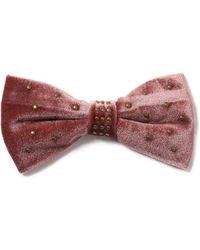 TOPMAN - Pink Bow Tie - Lyst