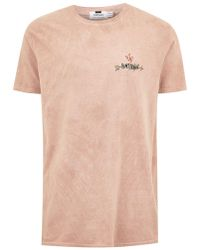 TOPMAN - Washed Pink 'heartbroken' T-shirt - Lyst