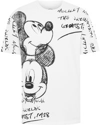 TOPMAN - White Mickey Mouse T-shirt - Lyst
