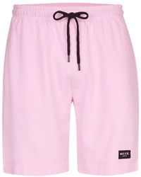 Nicce London - Nicce Pink Jogging Shorts - Lyst