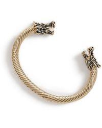 TOPMAN Gold Dragon Cuff - Metallic
