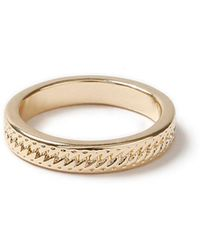 TOPMAN - Gold Band Ring - Lyst