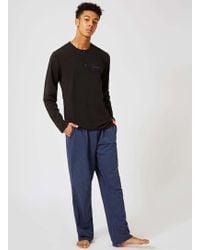 CALVIN KLEIN 205W39NYC - Black And Blue Check Pyjama Set - Lyst