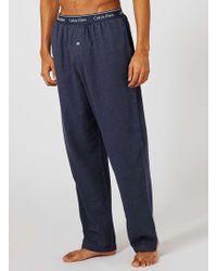 CALVIN KLEIN 205W39NYC - Navy Flannel Pyjama Bottoms - Lyst