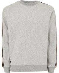 TOPMAN - Grey Taped Sweatshirt - Lyst