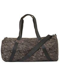 TOPMAN - Brown Camo Barrel Bag - Lyst