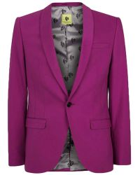 TOPMAN - Noose & Monkey Pink Skinny Fit Suit Jacket - Lyst