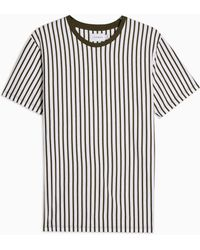 TOPMAN And White Vertical Stripe T-shirt