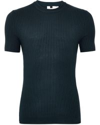 TOPMAN - Navy Muscle Ribbed Jumper - Lyst