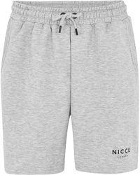 Nicce London - Grey Jogging Short - Lyst