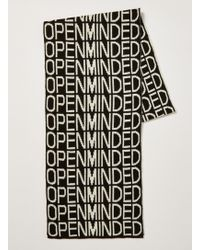 TOPMAN - And White 'open Minded' Scarf - Lyst