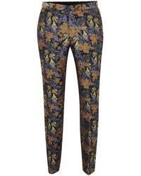 TOPMAN - Floral Toucan Jaquard Skinny Pant - Lyst