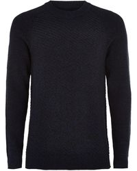 TOPMAN - Elected Homme High Neck Knitted Sweater - Lyst