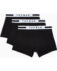 TOPMAN - With White Trunks 3 Pack - Lyst