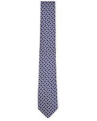 TOPMAN - Blue Geometric Tie - Lyst