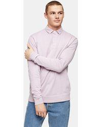 TOPMAN Lilac Wash Rugby Sweatshirt - Purple