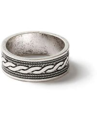 TOPMAN - Ilver Band Ring - Lyst