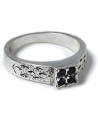 TOPMAN - Ilver Stone Ring - Lyst