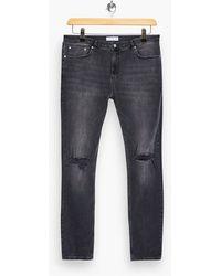 TOPMAN Bigripped Spray On Jeans - Grey