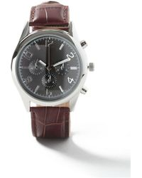 TOPMAN - Black Leather Strap Watch* - Lyst