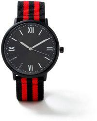 TOPMAN - Black Fabric Watch - Lyst