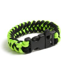 TOPMAN Neon Plait Wristwear - Yellow