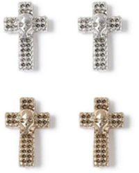 TOPMAN - Cross Earring Pack - Lyst