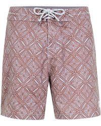 Globe - Dark Pink Geo Print Shorts* - Lyst