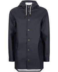 TOPMAN - Hymn Navy Raincoat* - Lyst
