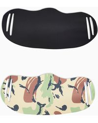 TOPMAN 2 Pack Camouflage Print Fashion Face Mask - Multicolor