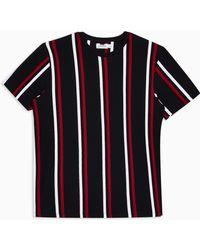 TOPMAN Striped T-shirt - Blue