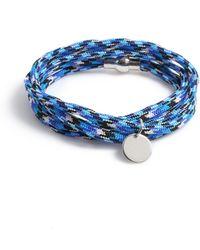 TOPMAN Fabric Bracelet - Blue